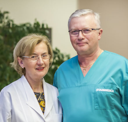 Stadmedica - lek. stom. Barbara Jundziłł <br>oraz dr n. med. Wiesław Jundziłł - założyciele